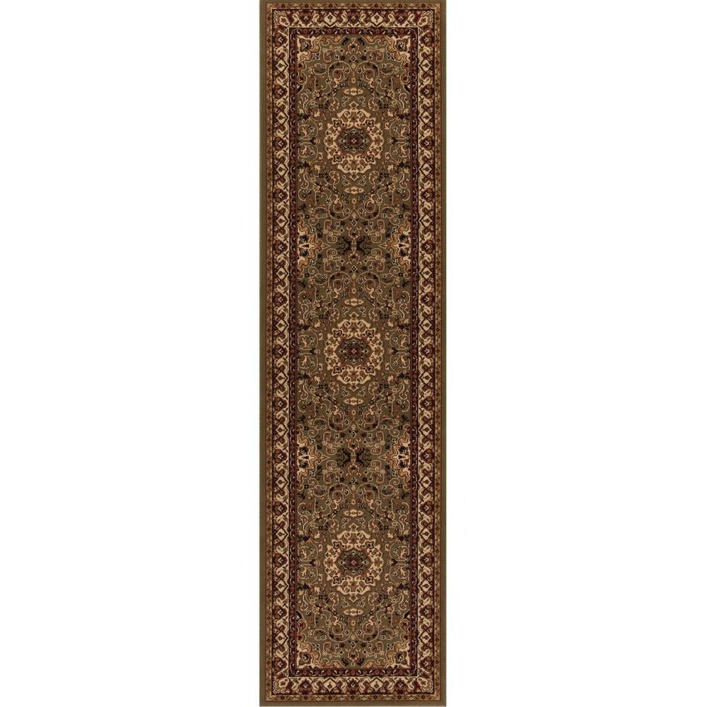 Persian Classics Isfahan Green 2 ft. x 7 ft. 7 in.