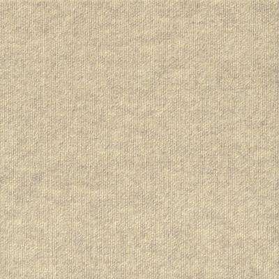 Premium Self-Stick Inspirations Ivory Ribbed Texture 18 in. x 18 in. Carpet Tile (16 Tiles/36 sq. ft. /case)