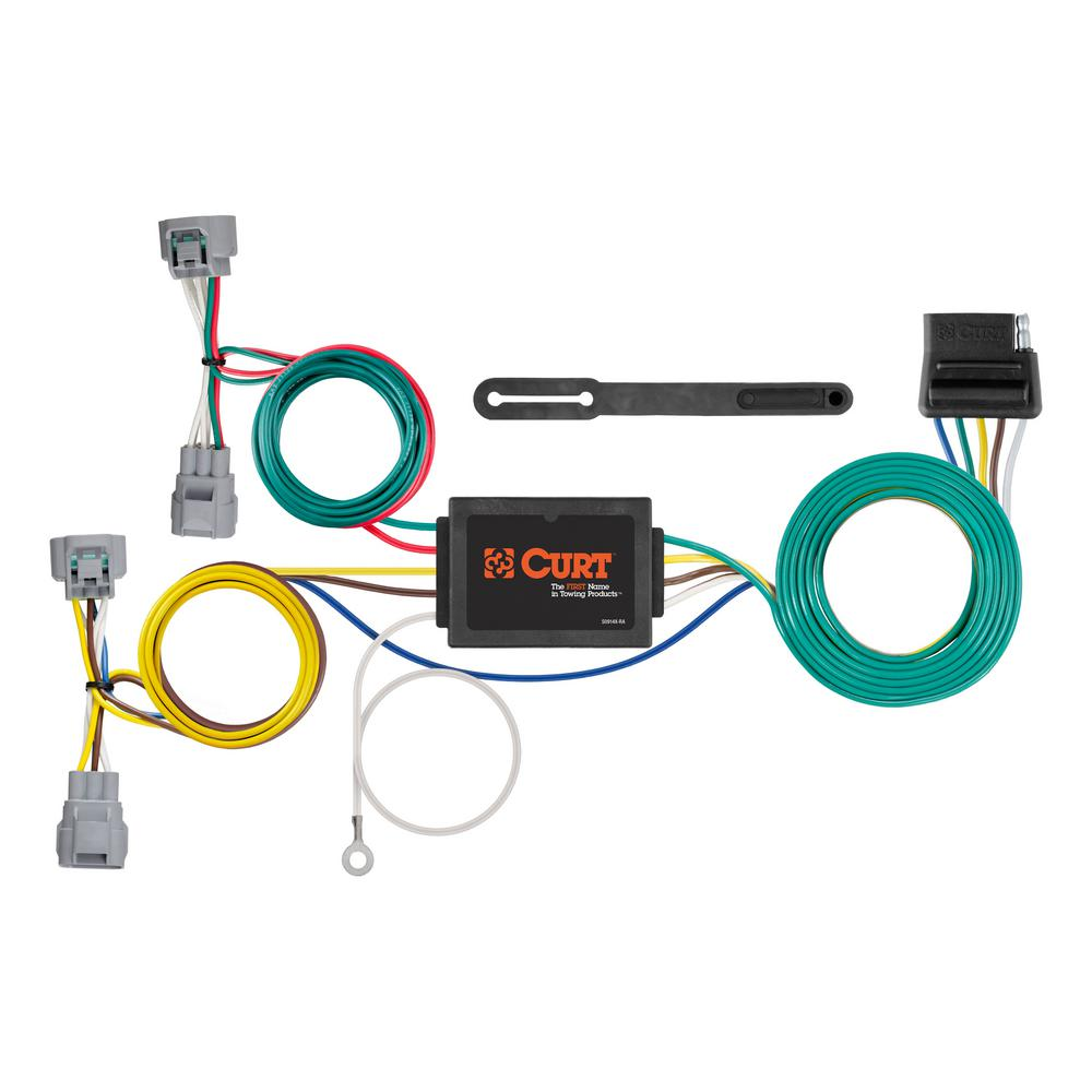 CURT Custom Vehicle-Trailer Wiring Harness, 5-Way Flat Output, Select  Toyota Tacoma, Hilux, T-100 Pickup, Quick T-Connector-56513 - The Home DepotThe Home Depot