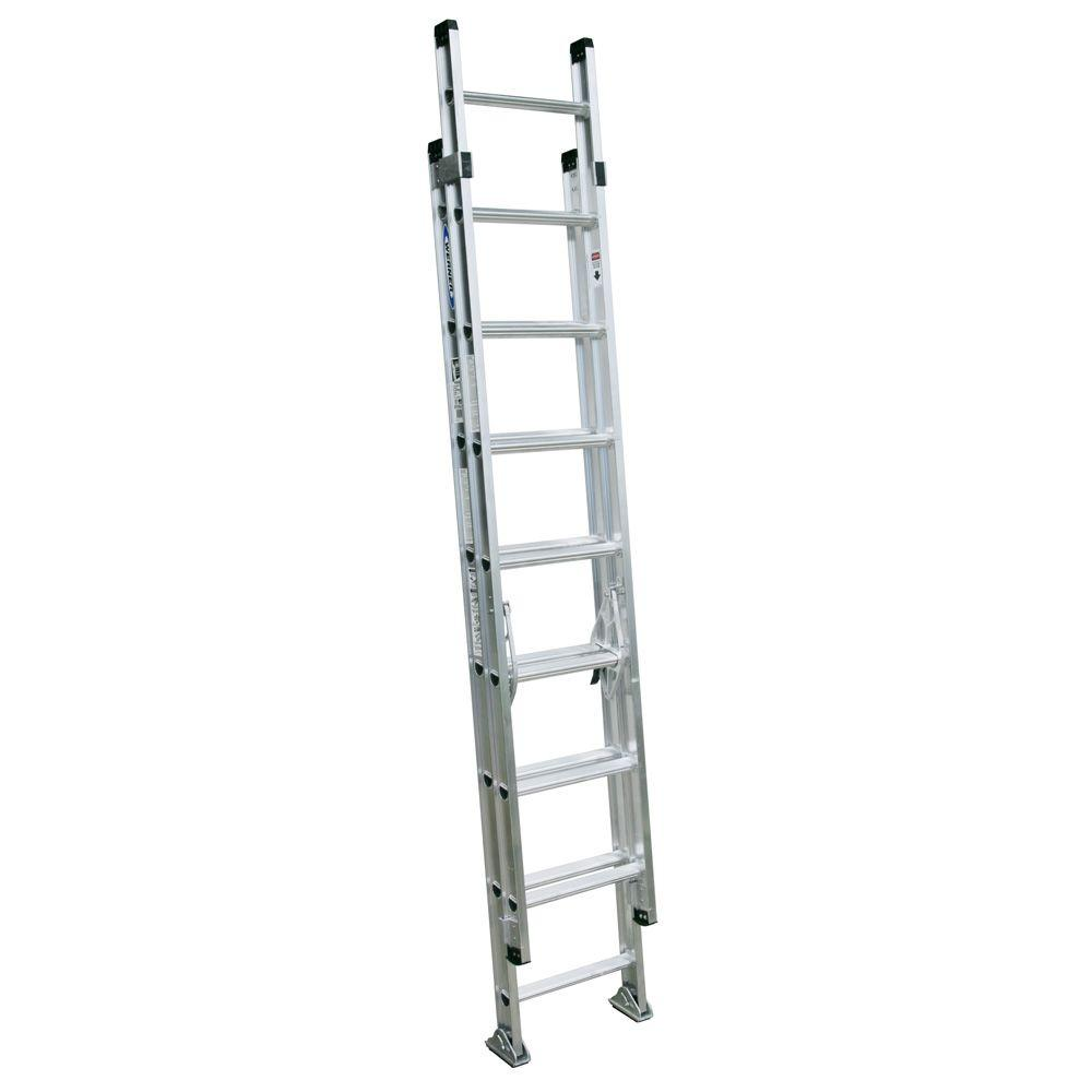 16 ft. Aluminum D-Rung Extension Ladder with 300 lb. Load Capacity
