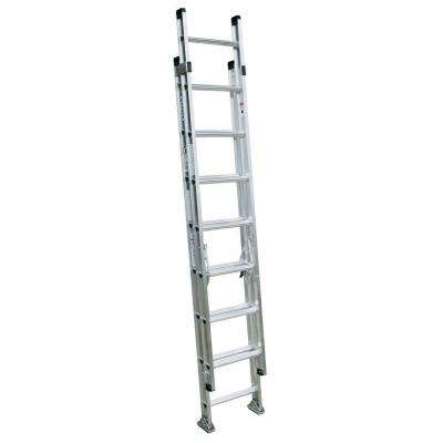 16 ft. Aluminum D-Rung Extension Ladder with 300 lb. Load Capacity Type IA Duty Rating