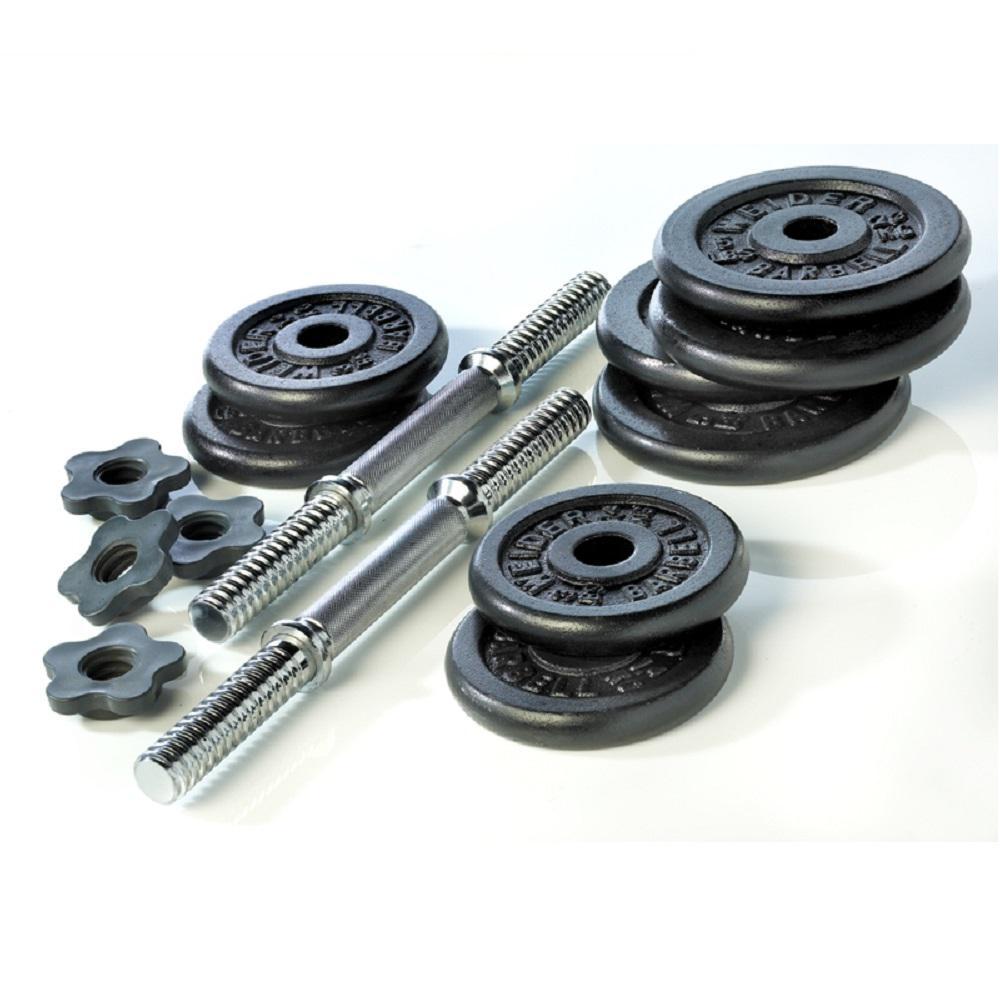 3432845808d Weider 40 lb. Cast Iron Weight Set-WC4011 - The Home Depot