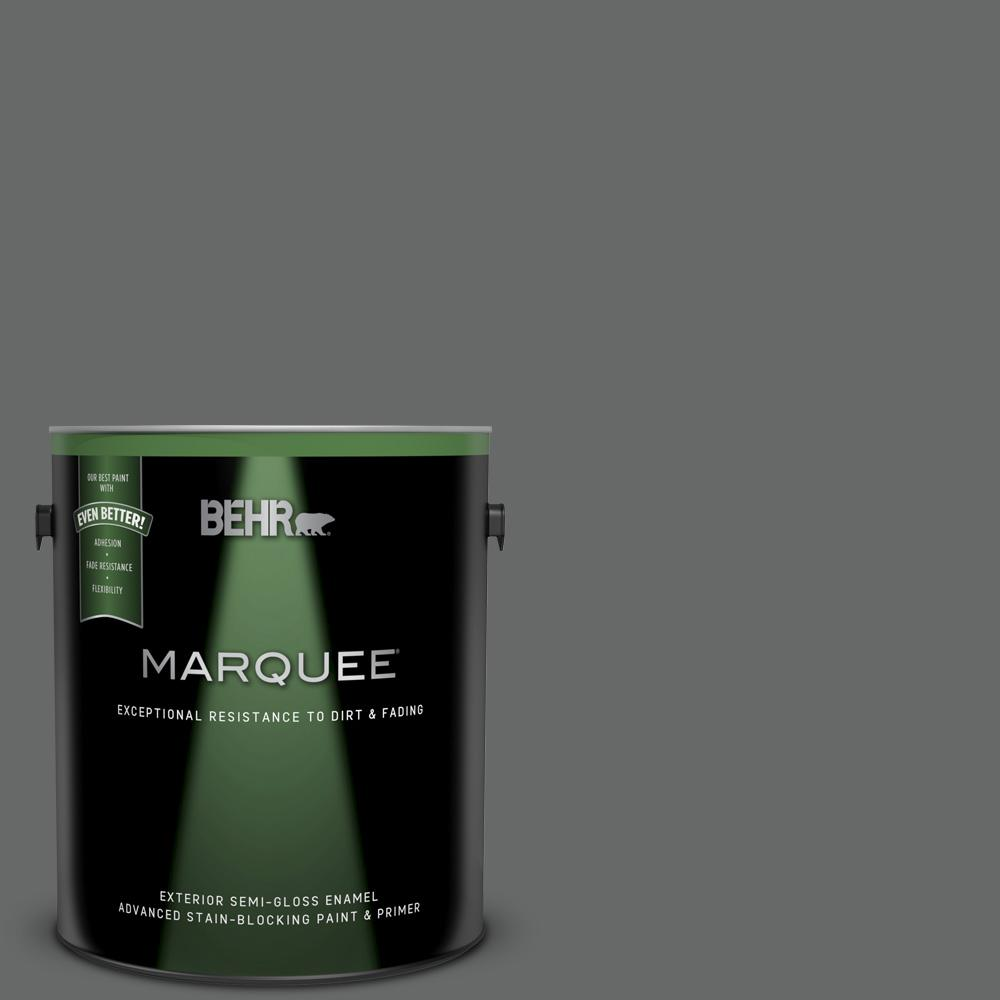 Behr Marquee 1 Gal T11 5 Not So Innocent Semi Gloss Enamel Exterior Paint And Primer In One 545301 The Home Depot