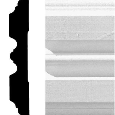 3/4 in. x 4-1/4 in. x 8 ft. MDF Fluted Casing Moulding