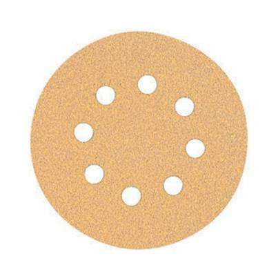 5 in. 8-Hole 80-Grit H and L Random Orbit Sandpaper (5-Pack)