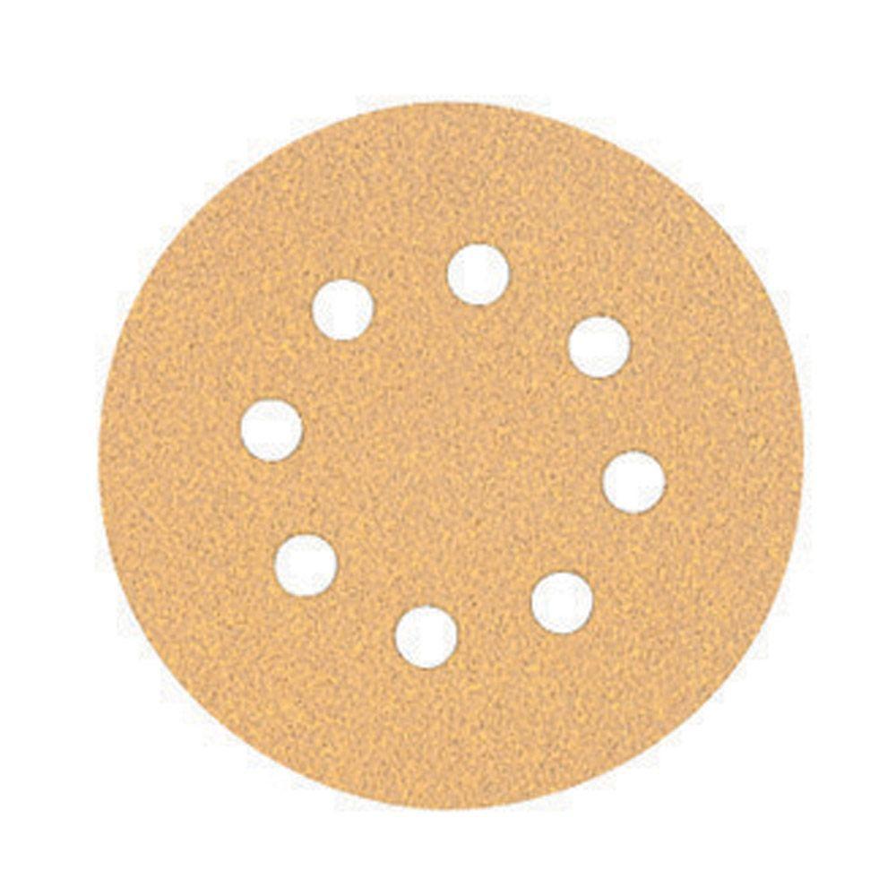 5 in. 8-Hole 80-Grit H and L Random Orbit Sandpaper (5-Pack)