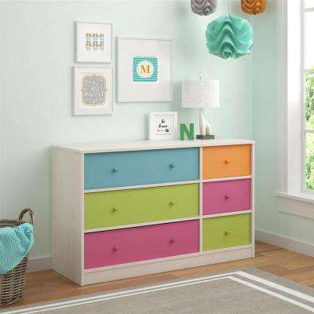 Applegate 6-Drawer Muti-colored Dresser