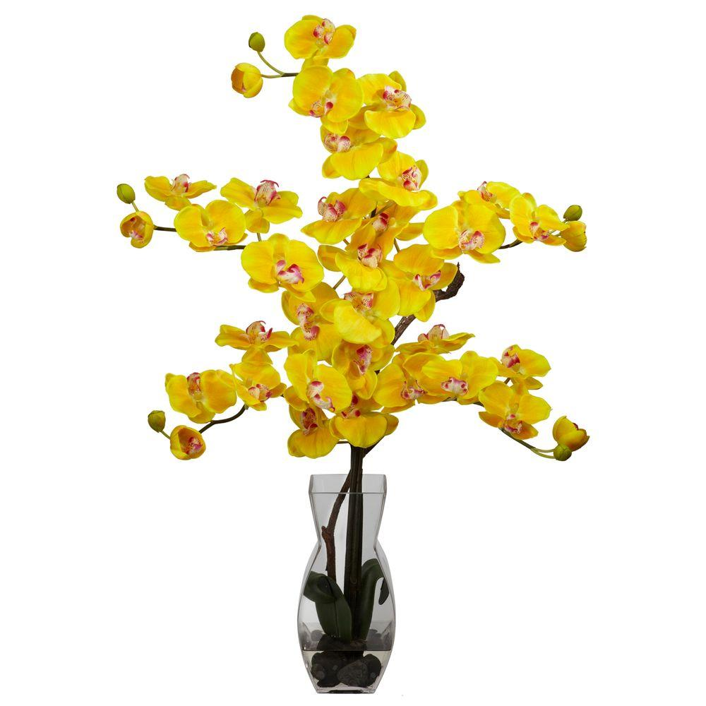 29 in h yellow phalaenopsis with vase silk flower arrangement 1191 h yellow phalaenopsis with vase silk flower arrangement mightylinksfo