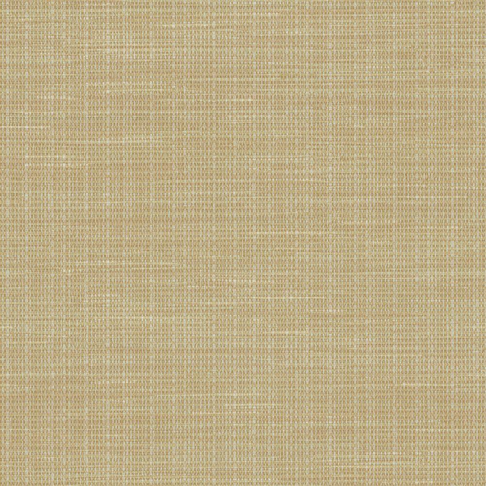 Brewster Woven Beige Faux Grasscloth Wallpaper-FD23284