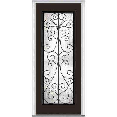 Camelia Decorative Glass Full Lite Painted Fiberglass Smooth Exterior