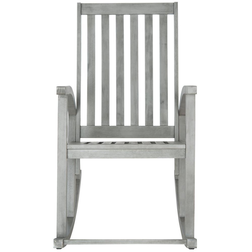 Clayton Grey Wash Acacia Wood Outdoor Rocking Chair