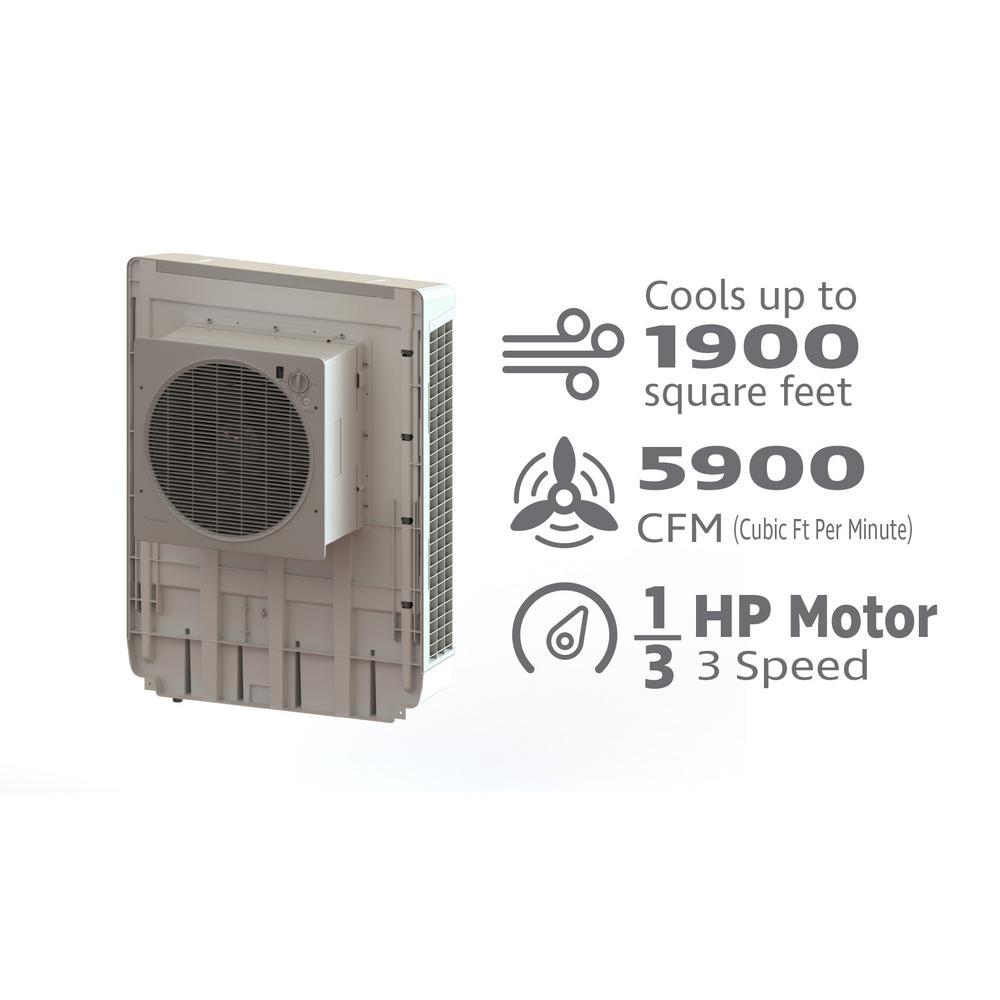 Bonaire Durango 5900 CFM 3-Speed Window Evaporative Cooler for 1900 sq   ft -6280035 - The Home Depot