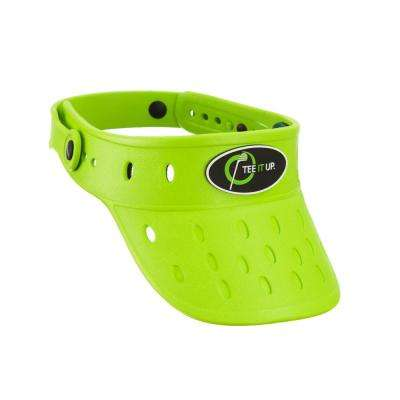 Lime Green Foam Hat Visor Plastic Button Adjustable Lightweight Durable Anti Mold Removable Rubber Logo Float