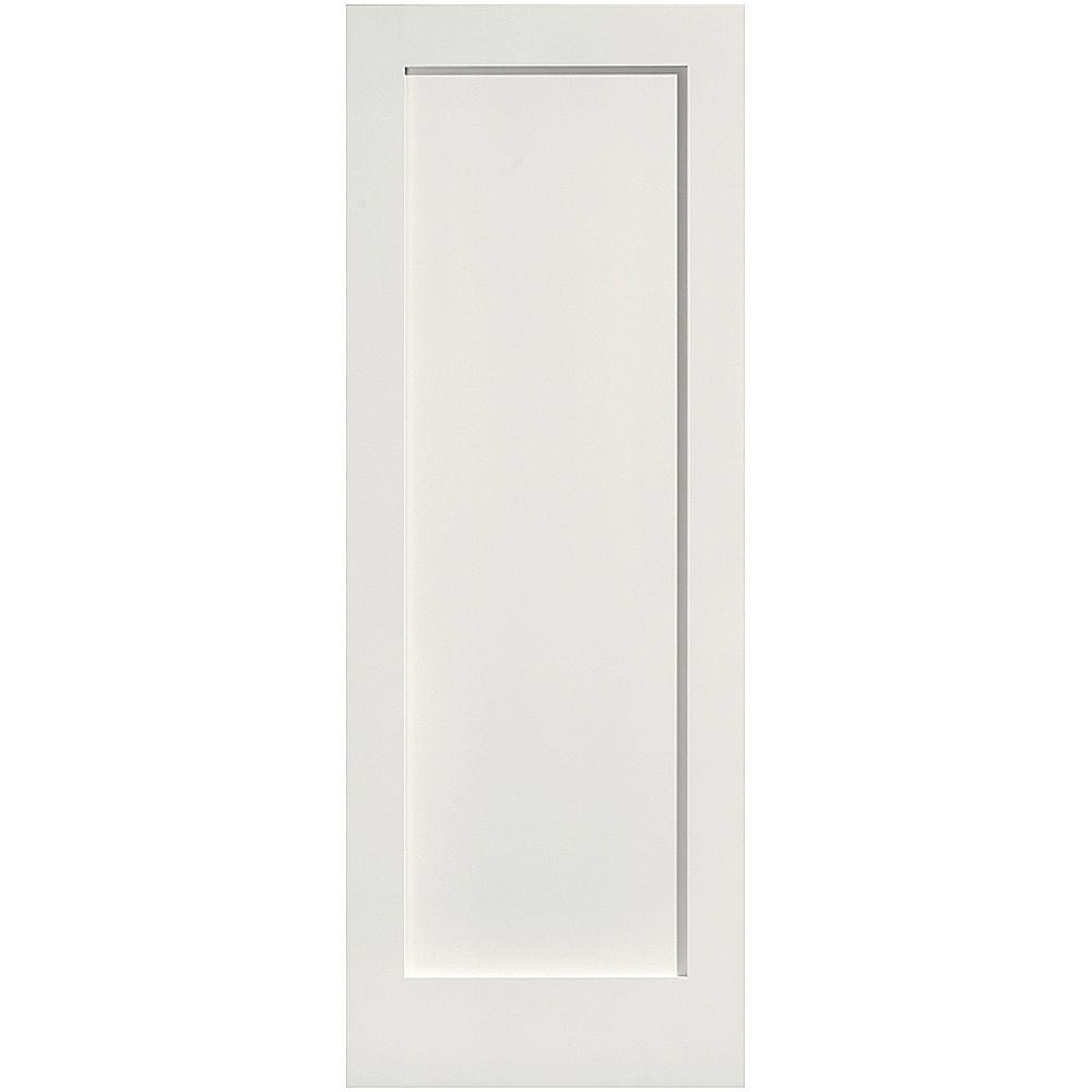 Masonite 24 in x 80 in mdf series smooth 1 panel solid for Www masonite com interior doors