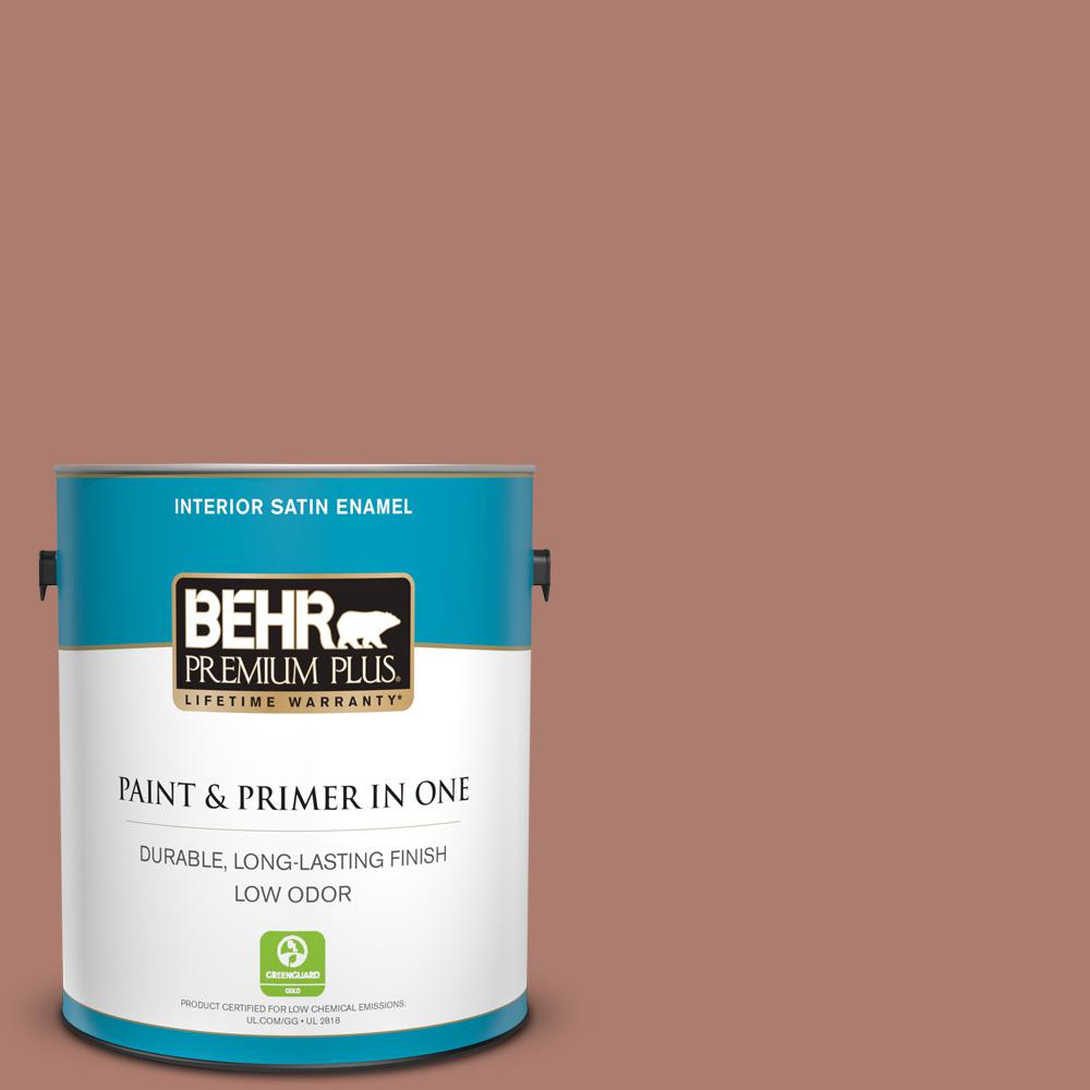 1 gal. #PPU2-11 Mars Red Satin Enamel Low Odor Interior Paint