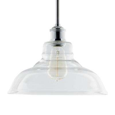 6-Watts 1-Bulb LED Brushed Nickel Clear Vintage Pendant Light