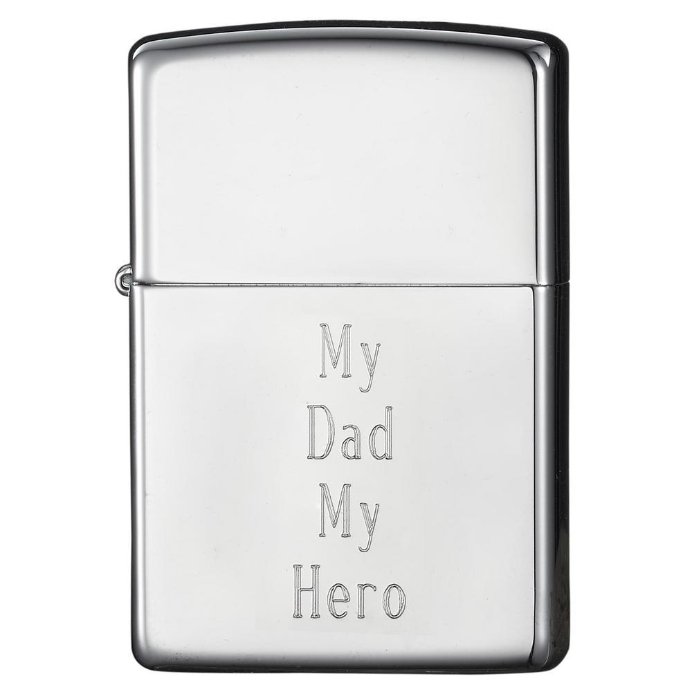 Zippo High Polish Chrome Finish Father's Day Lighter
