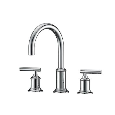 8 in. Widespread 2-Handle Modern Gooseneck Bathroom Faucet with Pop-Up Drain in Chrome
