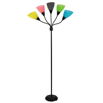 Tamarindo 67 in. Black Floor Lamp with Shade