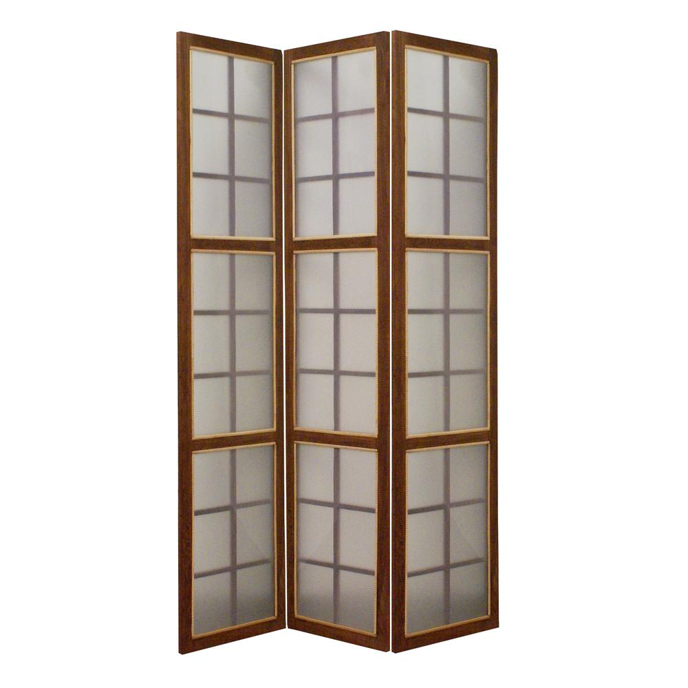 Brown 3 Panel Room Divider