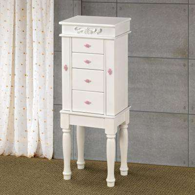 Bernardette White Jewelry Armoire
