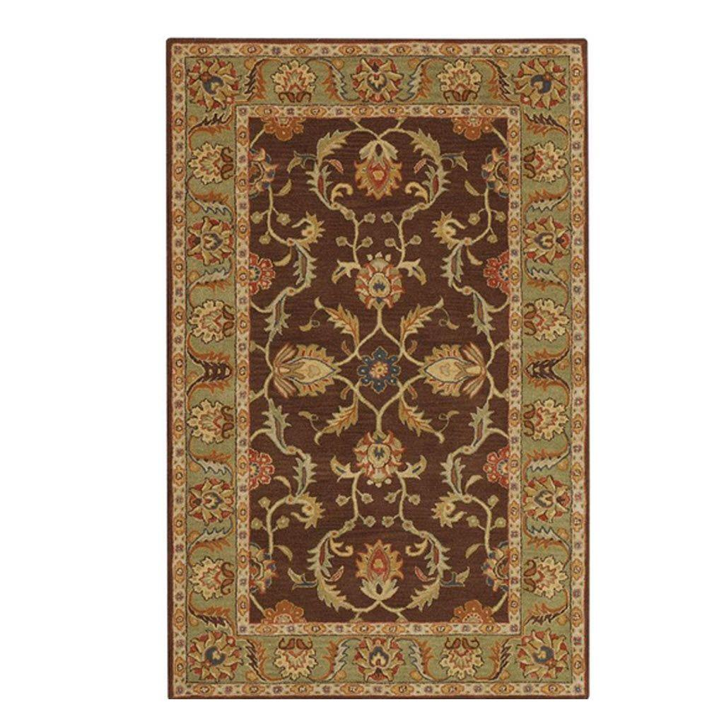 home decorators collection aristocrat brown 4 ft x 6 ft