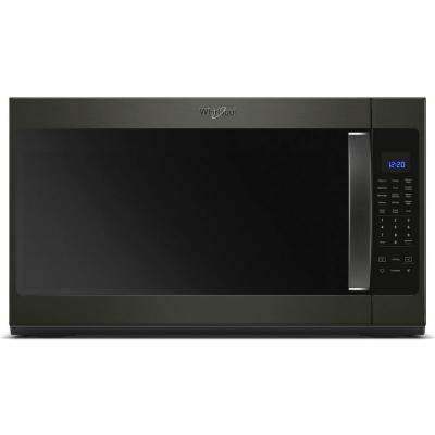 30 in W 2.1 cu. ft. Over the Range Microwave in Fingerprint Resistant Black Stainless with Steam Cooking