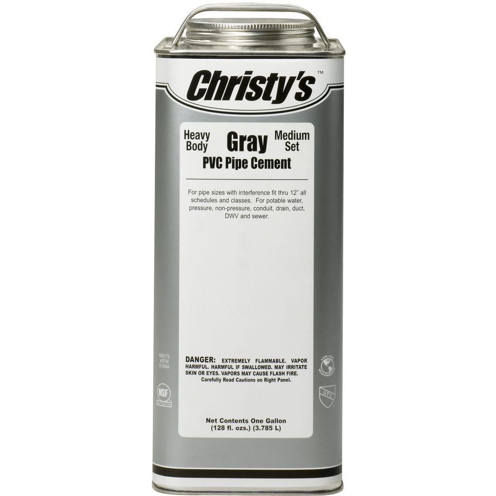 Christy's 128 oz. PVC Gray Heavy Cement (Case of 6)