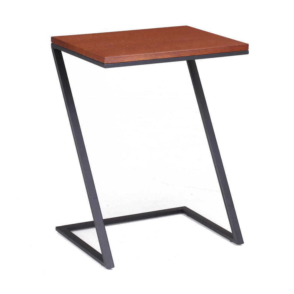 Foster Black Steel with Wood Veneer Top Z Table