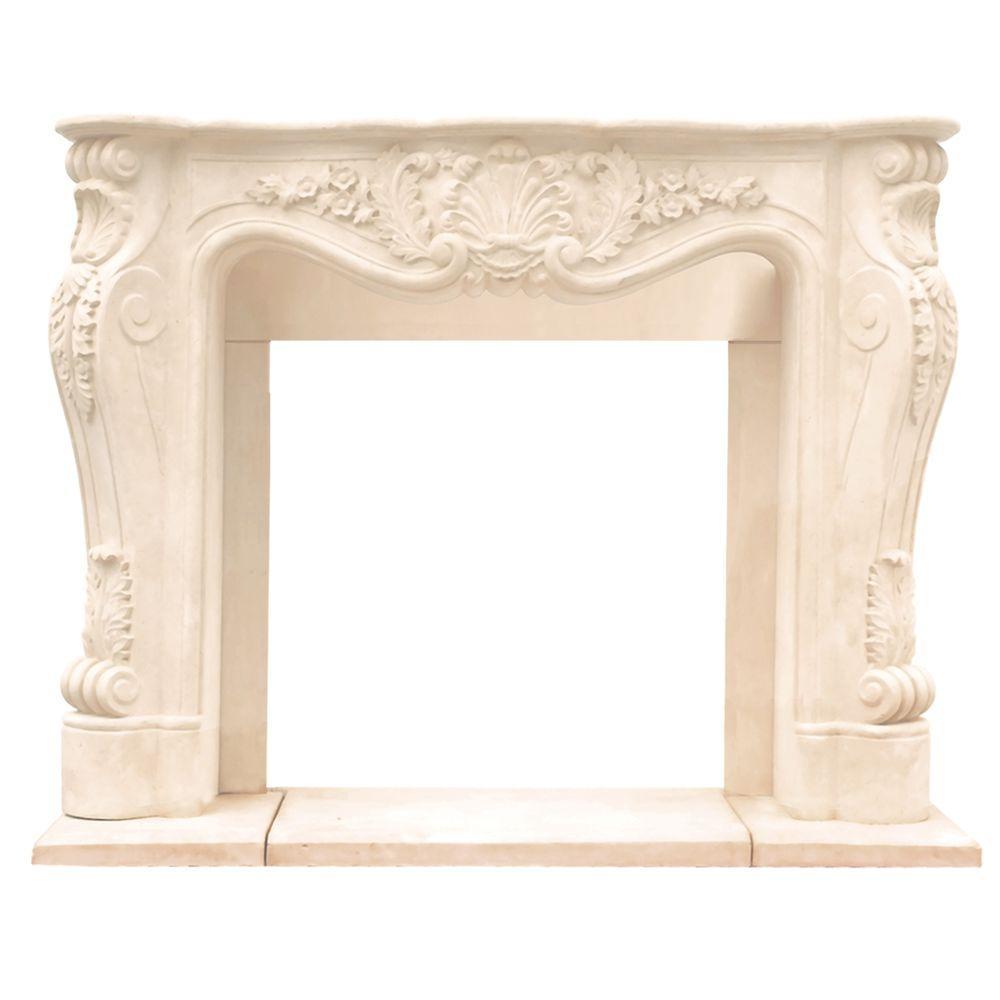 Historic Mantels Cau Series Louis Xiii 48 In X 62 Cast Stone Mantel