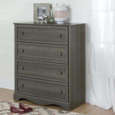 Savannah 4-Drawer Gray Maple Chest