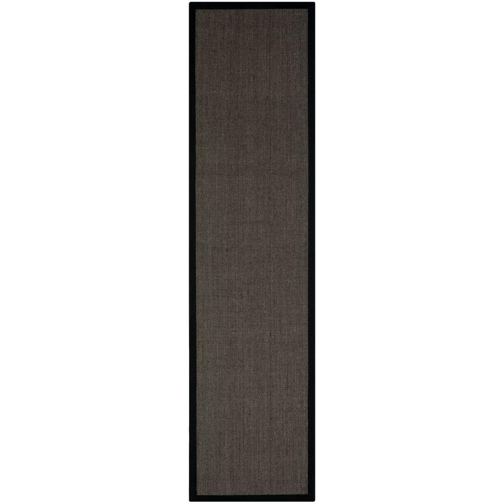 Safavieh Natural Fiber Charcoal 2 Ft 6 In X 18 Rug Runner