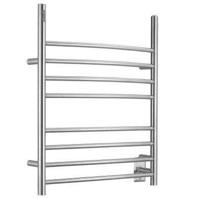 Imperia 8-Bar Electric 3-in-1 Plug-in and Hardwire Towel Warmer with Integrated Timer in Brushed Stainless Steel