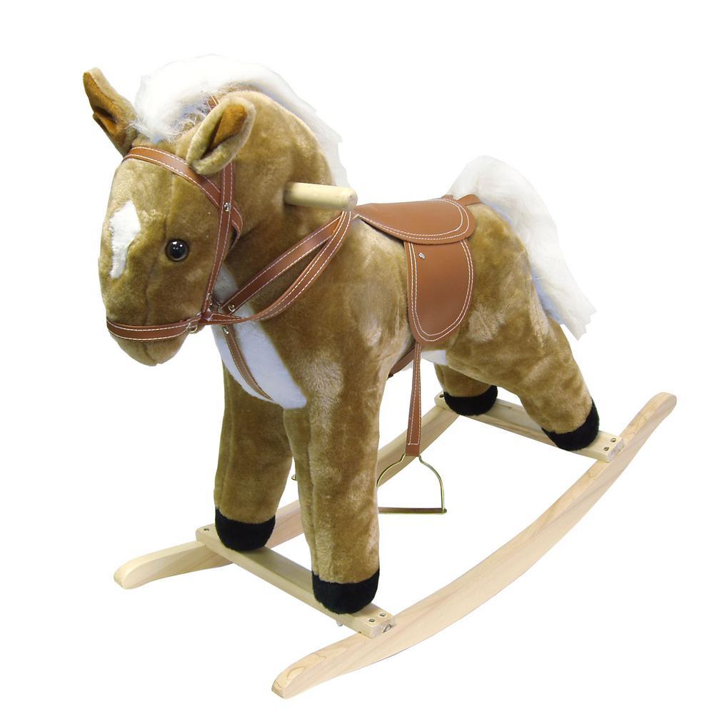 Plush Brown Rocking Harold Horse, Browns/Tans