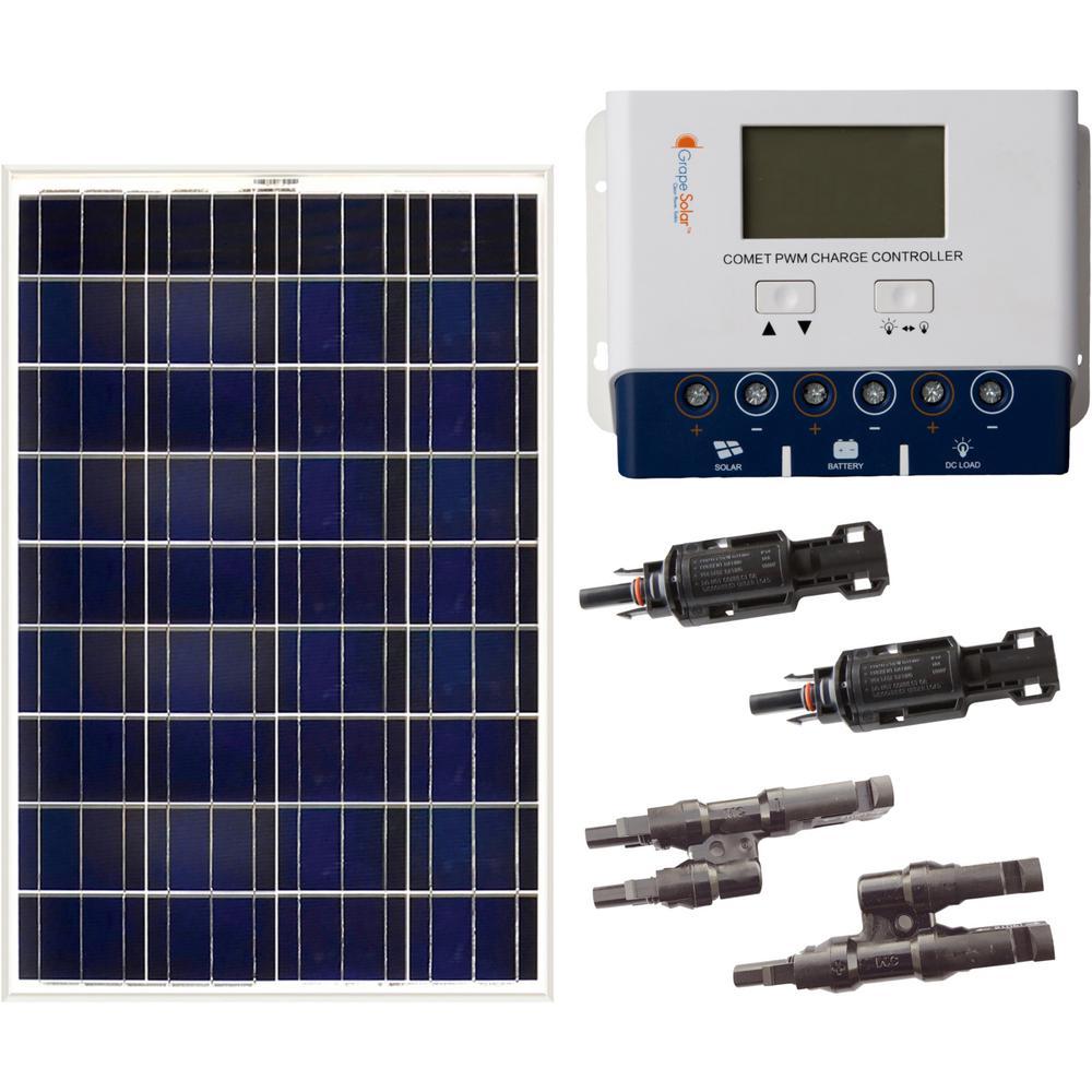 Grape Solar 200 Watt Off Grid Solar Panel Kit Gs 200 Kit