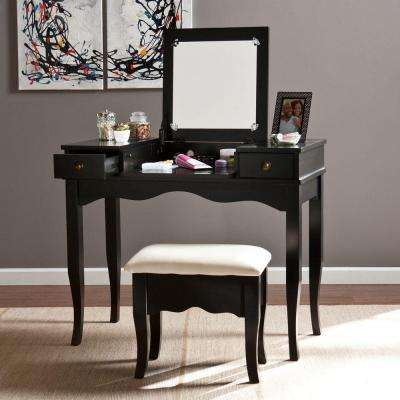 Calla 2-Piece Black Vanity Set