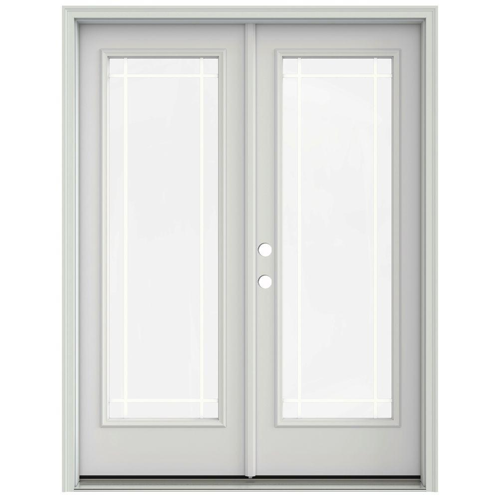Jeld Wen 60 In X 80 In Primed Prehung Right Hand Inswing 9 Lite French Patio Door With