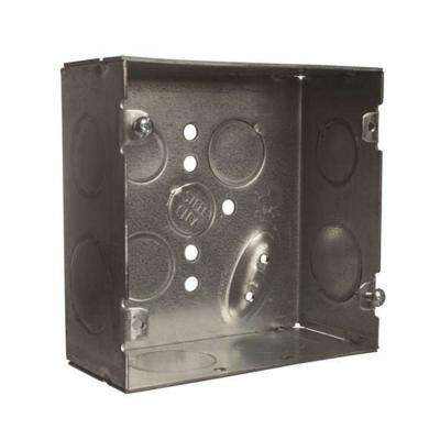 2-Gang 4 in. 42 cu. in. 2-1/8 in. Deep New Work Metal Square Electrical Box (Case of 20)