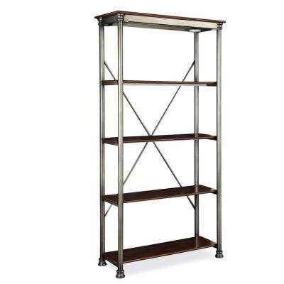 Five Shelf 38 in. W x 76 in. H x 16 in. D, Wood and Steel Orleans Shelving Unit