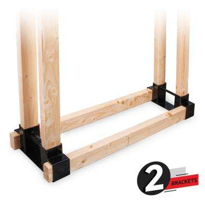 Firewood Rack, Adjustable Log Holder, Heavy Duty Log Rack Bracket Kit with Screws, Fits Outdoor and indoor Space
