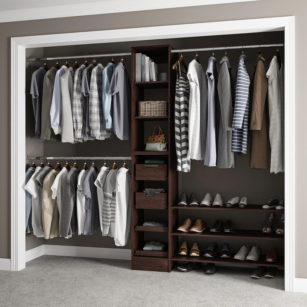 Gentil This Review Is From:15 In. D X 105 In. W X 84 In. H Melamine Reach In Closet  System Kit In Mocha