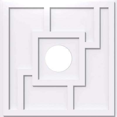 18 in. OD x 4 in. ID x 1 in. P Knox Architectural Grade PVC Contemporary Ceiling Medallion