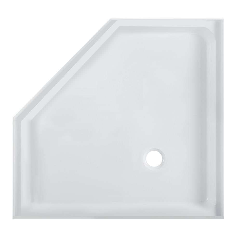 Swiss Madison Voltaire 36 in. x 36 in. Acrylic White, Single-Threshold, Center Drain, Neo-angle Shower Base