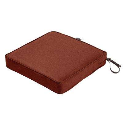 Montlake Heather Henna Red 17 in. W x 17 in. D x 3 in. Thick Square Outdoor Seat Cushion