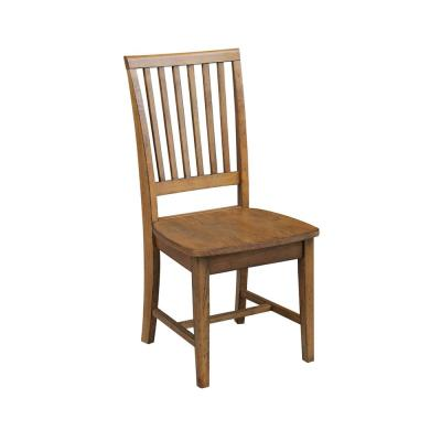Distressed Pecan Wood Mission Dining Chair (Set of 2)
