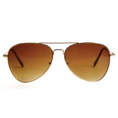 Gold Aviator Polarized Sunglasses
