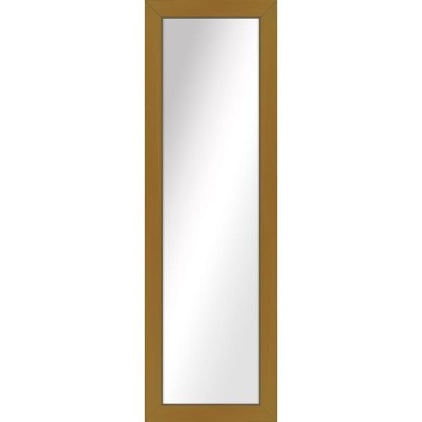Large Rectangle Antique Gold Art Deco Mirror (51.5 in. H x 15.5 in. W)