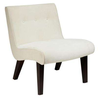 Curves Valencia Oyster Velvet Accent Chair