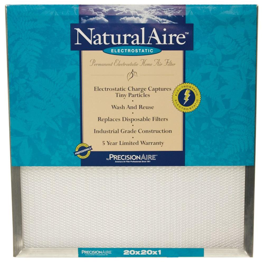 null 20 in. x 20 in. x 1 in. Electrostatic Pleated Air Filter (Case of 6)