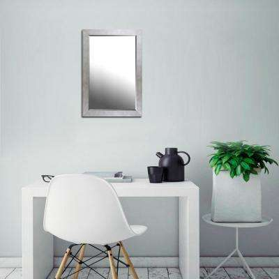 22.50 in. x 34.50 in. x 0.75 in. Champagne Silver Finish Beveled Mirror